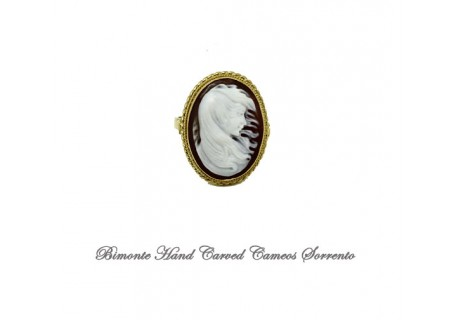 """""""The Lady in the Wind"""" Cameo Ring"""