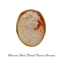 """Bella"" Cameo Brooch and Pendant"