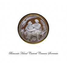 """Lovers"" Cameo Brooch and Pendant"