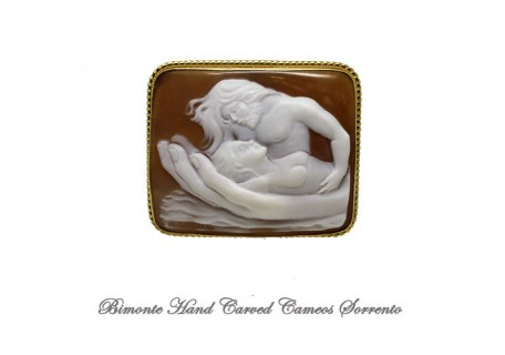 """""""In the Hands of Love"""" Cameo Brooch and Pendant"""