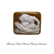 """In the Hands of Love"" Cameo Brooch and Pendant"