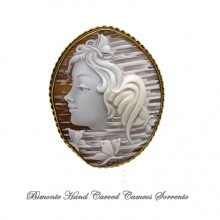 """The Girl of the Butterflies"" Cameo Brooch and Pendant"