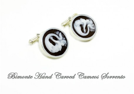 """Siren of Sorrento"" Cameo Cufflinks"