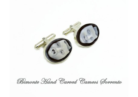 """Comedy and Tragedy"" Cameo Cufflinks"