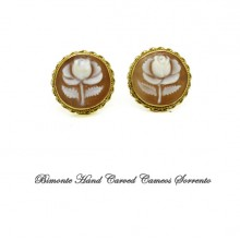 """White Rose"" Cameo Earrings"