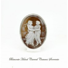 """Dancing"" Cameo brooch and Pendant"