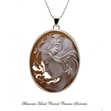 """Bella Flora"" Cameo Necklace"