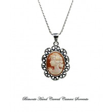 """Bella"" Filigree work Cameo Necklace"