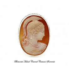 """""""Athena"""" Old Cameo Brooch and Pendant"""