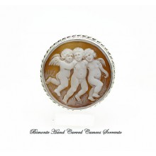 """""""Three Angels"""" Cameo Brooch and Pendant"""