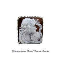 """""""A Mother"""" Cameo Brooch and Pendant"""
