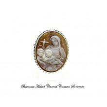 """La Vergine Maria"" Cameo Brooch and Pendant"