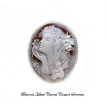 """""""The Smile of Flora"""" Cameo Brooch and Pendant"""