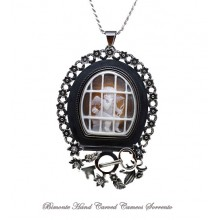 """""""Love Locked Up"""" Cameo Necklace"""
