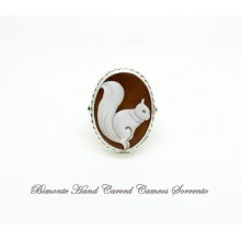 """""""The Squirrel and the Horse"""" Upside-Down Cameo Ring"""