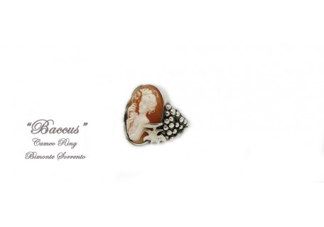 """""""Baccus"""" Cameo Ring"""