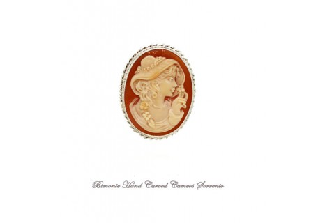 """""""Bella with the Hat"""" Cameo Brooch and Pendant"""