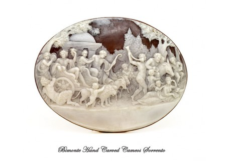 """""""The Triumph of Baccus and Arianna"""" Antique Cameo"""
