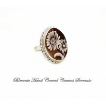 """""""Flowers"""" Cameo Ring"""