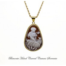 """""""The Girl of the Birds"""" Cameo Necklace"""