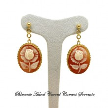 """""""Large Roses"""" Cameo Earrings"""