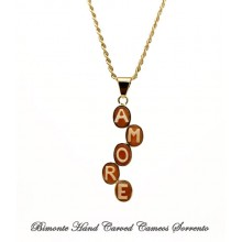 """""""AMORE"""" Cameo Necklace"""