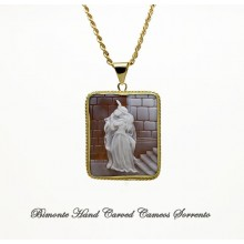 """""""The Kiss, Hayez"""" Cameo Necklace"""