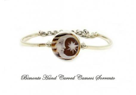 """""""Moon and Star"""" Cameo Cuff Bracelet"""