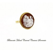 """""""Madonna of the Chair"""" Cameo Ring"""