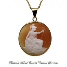"""""""Athena with the Trident"""" Antique Cameo Necklace"""