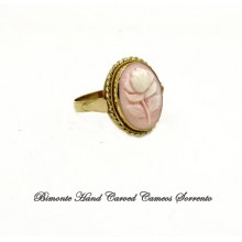 """""""Pale Rose"""" Cameo Ring"""