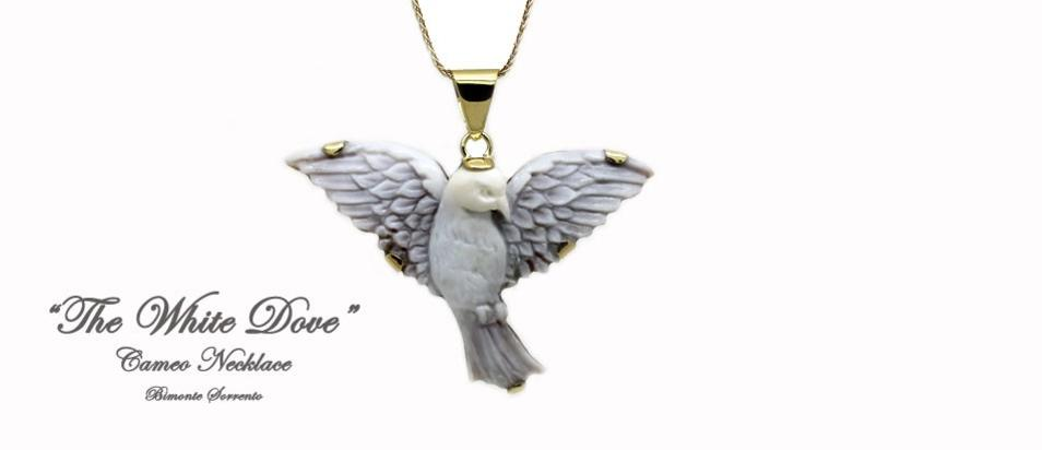 """The White Dove"" Cameo Necklace"